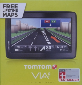 TomTom VIA 135 13cm 5 Zoll Display M Europe 45 Navigationssystem Free Lifetime Maps Bluetooth